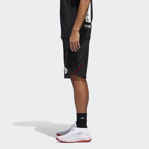 Black Red CE7348 Mens Adidas Dame Never Doubt Short